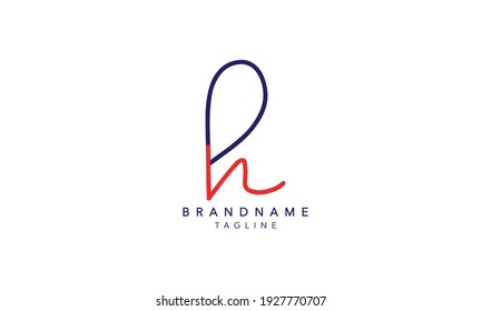 Alphabet letters Initials Monogram logo PH,PH INITIAL, PH letter , H and P