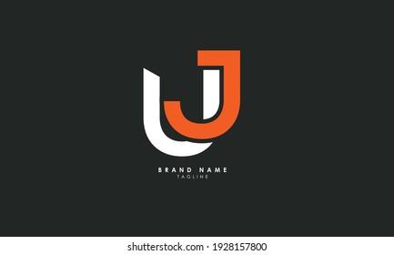 Alphabet letters Initials Monogram logo UJ, JU, U and J