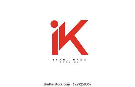 Alphabet letters Initials Monogram logo IK, KI, I and K
