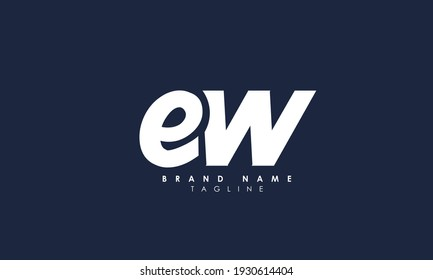 Alphabet letters Initials Monogram logo EW, WE, E and W