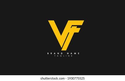 Alphabet letters Initials Monogram logo VF, FV, F and V