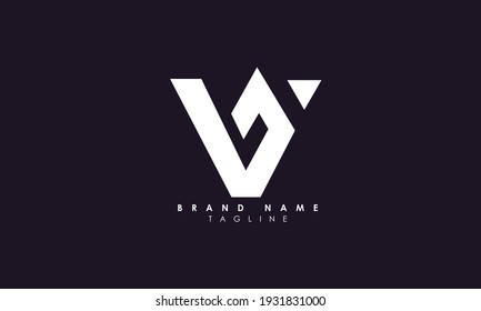 Alphabet letters Initials Monogram logo V