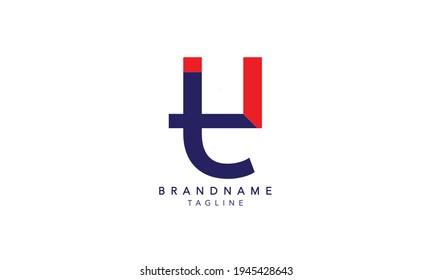 Alphabet letters Initials Monogram logo TU,TU INITIAL, TU letter , T and U