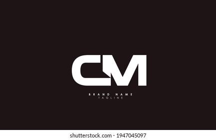 Alphabet letters Initials Monogram logo CM, MC, C and M