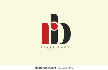 Alphabet Letters Initials Monogram Logo RB, R and B