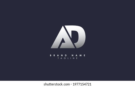 Alphabet letters Initials Monogram logo AD, DA, A and D