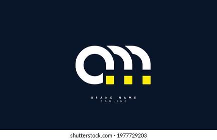 Alphabet letters Initials Monogram logo MA, AM, A and M