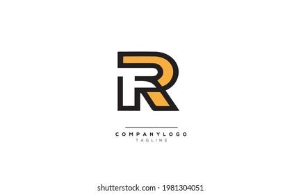 Alphabet letters Initials Monogram logo FR, FR INITIAL, FR letter