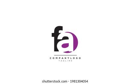 Alphabet letters Initials Monogram logo FA, FA INITIAL, FA letter