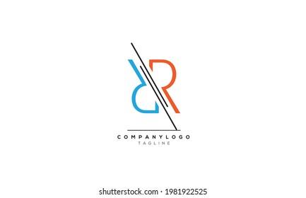 Alphabet letters Initials Monogram logo RR, RR INITIAL, RR letter