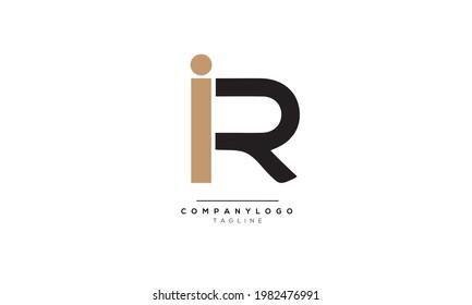 Alphabet letters Initials Monogram logo IR, IR INITIAL, IR letter