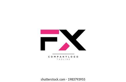 Alphabet letters Initials Monogram logo FX, FX INITIAL, FX letter