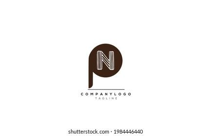 Alphabet letters Initials Monogram logo PN, PN INITIAL, PN letter