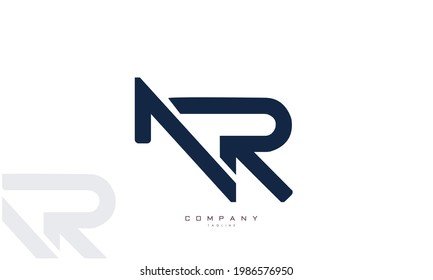 Alphabet letters Initials Monogram logo NR, RN, N and R