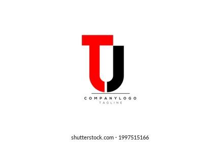 Alphabet letters Initials Monogram logo TU, TU INITIAL, TU letter