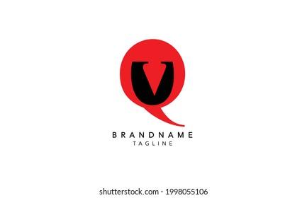 Alphabet letters Initials Monogram logo QU,QU INITIAL.