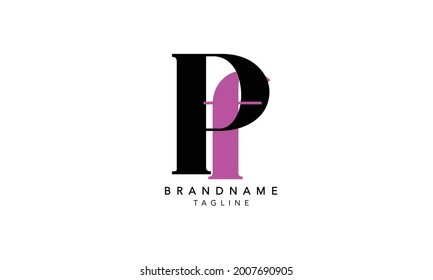 Alphabet letters Initials Monogram logo PF,PF INITIAL, PF letter , P and F