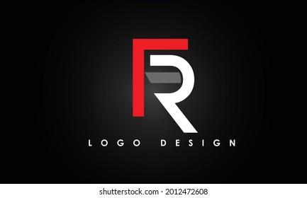 Alphabet letters Initials Monogram logo FR, RF, F and R