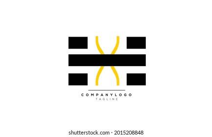 Alphabet letters Initials Monogram logo HX, HX INITIAL, HX letter