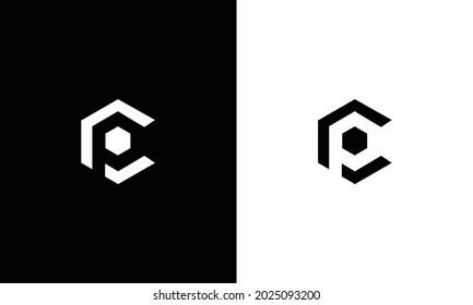 Alphabet letters Initials Monogram logo CP, PC