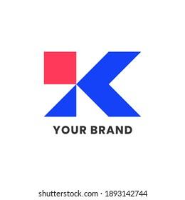Alphabet letters Initials Monogram Simple Logo KI, IK For Company Business. Elegant Minimalist Modern Logo Design