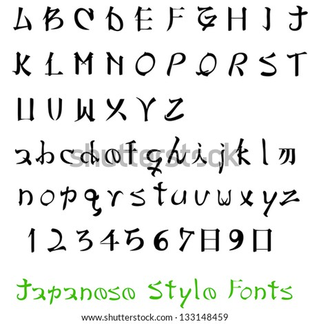 japanese style fonts