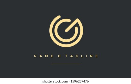 Alphabet letters logo GC,GC,C and G