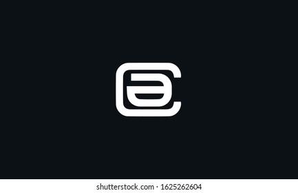 Alphabet letters monogram CA AC logo design