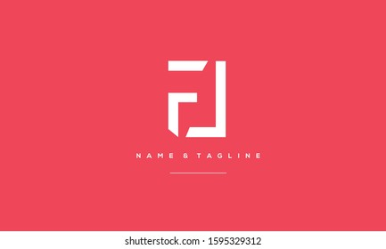 Alphabet letters monogram icon logo of FL,LF,F and L