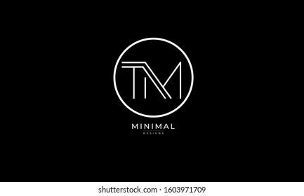 Alphabet letters monogram icon logo of TM or MT