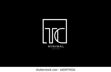 Alphabet letters monogram icon logo of TC or CT