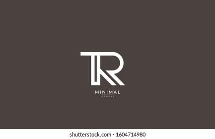 Alphabet letters monogram icon logo TR or RT