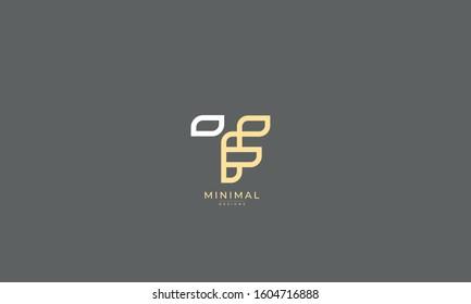 Alphabet letters monogram icon logo TF or FT