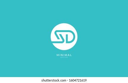 Alphabet letters monogram icon logo SD or DS