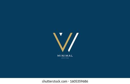Alphabet letters monogram icon logo VV