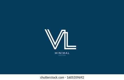 Alphabet letters monogram icon logo VL or LV