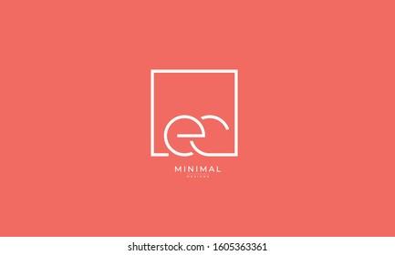 Alphabet letters monogram icon logo  EC or CE