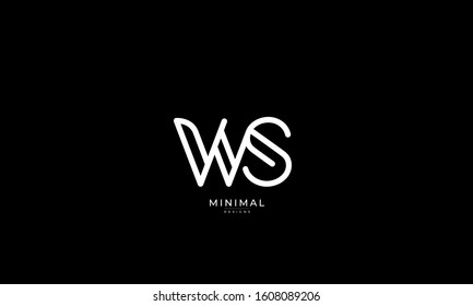 alphabet letters monogram icon logo WS or SW
