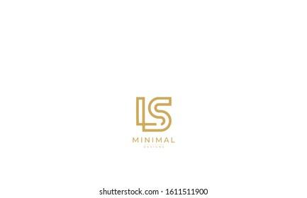 alphabet letters monogram icon logo LS