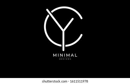 alphabet letters monogram icon logo CY or YC