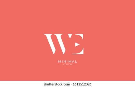 alphabet letters monogram icon logo WE