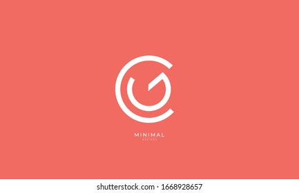 Alphabet letters monogram icon logo CG or GC
