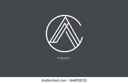 Alphabet letters monogram icon logo AC or CA