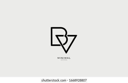 Alphabet letters monogram icon logo BV