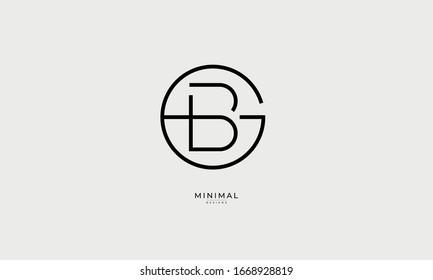 Alphabet letters monogram icon logo BG or GB