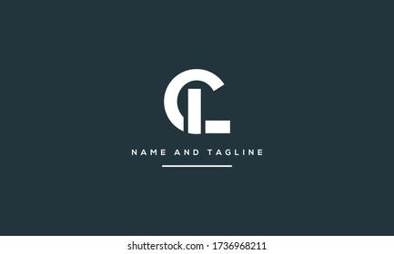 Alphabet letters monogram icon logo CL or LC