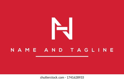 Alphabet letters monogram icon logo HN or NH
