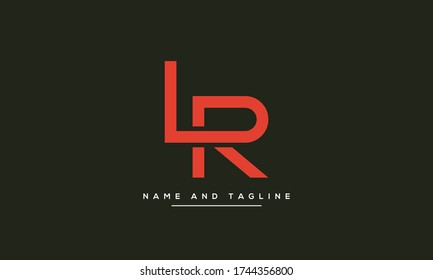 Alphabet letters monogram icon logo LR or RL