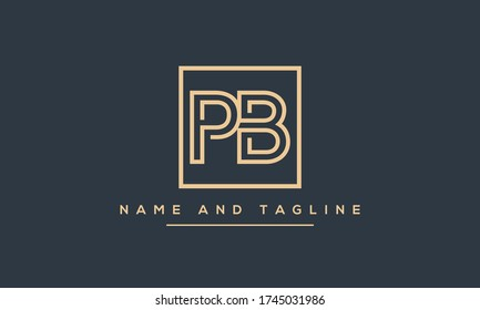 Alphabet letters monogram icon logo PB or BP