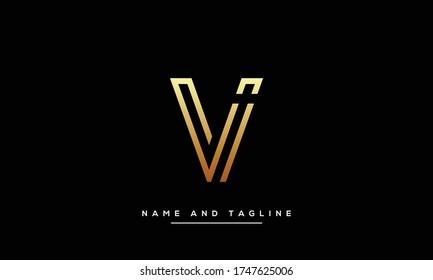 alphabet letters monogram icon logo VI or IV